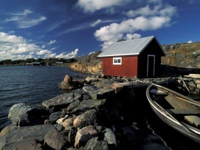 Aland red fisherman house