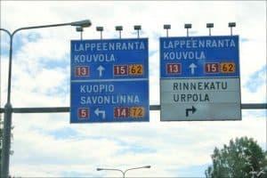 Расстояние до Лаппеенранты